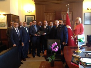 11.09.2015 TUSIB members paid a visit to new General Consul of Turkey (Mr. Cemil Togru) in Odessa