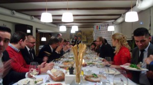 27.12.2015 TUSIB invited friends on the New Year's Eve Dinner.